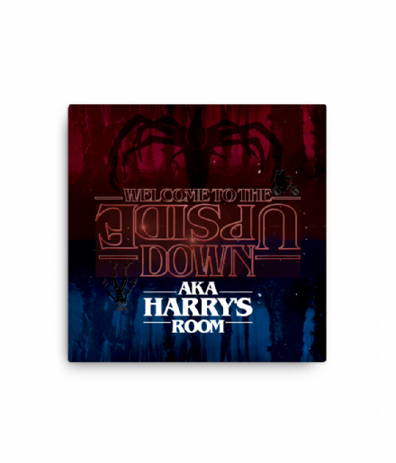 Welcome to The Upside Down - Personalised Stranger Things Bedroom Canvas Sign